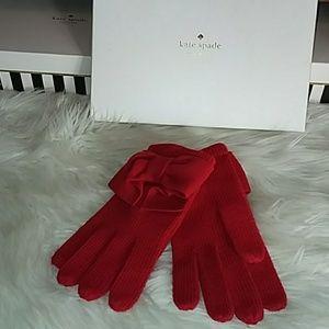 Red Kate Spade Gloves